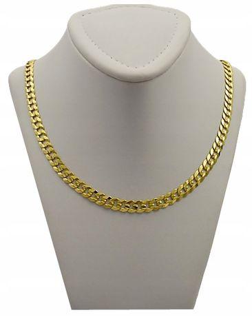 Złoty Łańcuszek MĘSKI PANCERKA pr. 585 + GRAWER