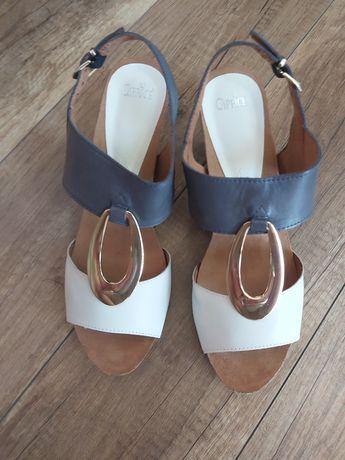 Sandałki damskie skórzane CAPRICE rozm. 38,5 nowe