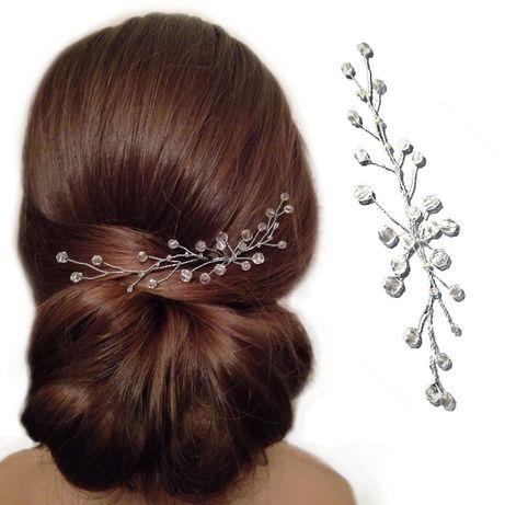 Ozdoba do włosów, gałązka, stroik | złoto lub srebro