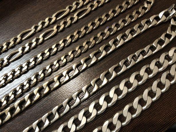 Srebrne grube lancuchy srebrne 925