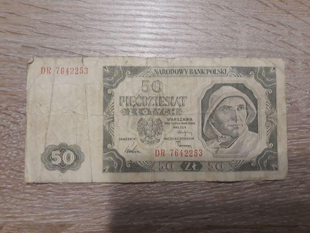Banknot 50zł z 1948r seria DR