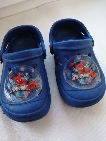Sandałki Sprandi + ala Crocsy Spiderman r. 22 chłopiec na lato 2 pary
