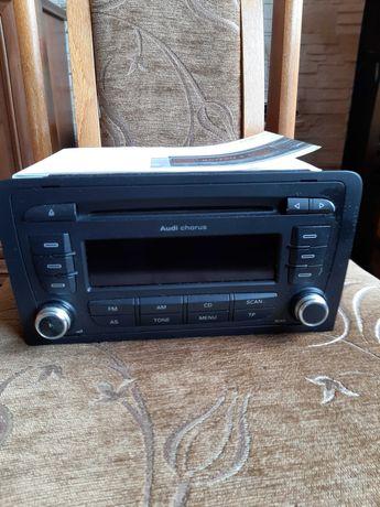 Oryginalne Radio Cd, 2DIN Audi Chorus z kodem PIN do radia.