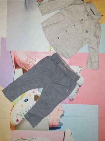 Набор нарядных вещей, для мальчика 3-6 мес. Штаны, рубашка, на крестин
