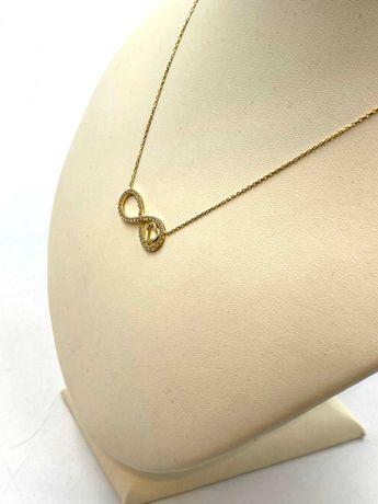 Nieużywany złoty łańcuszek/celebrytka Pr. 585 Waga: 2,68 G