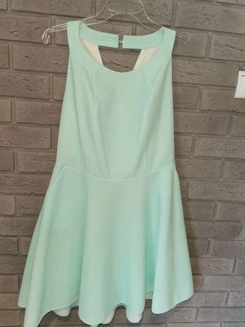 Miętową sukienka