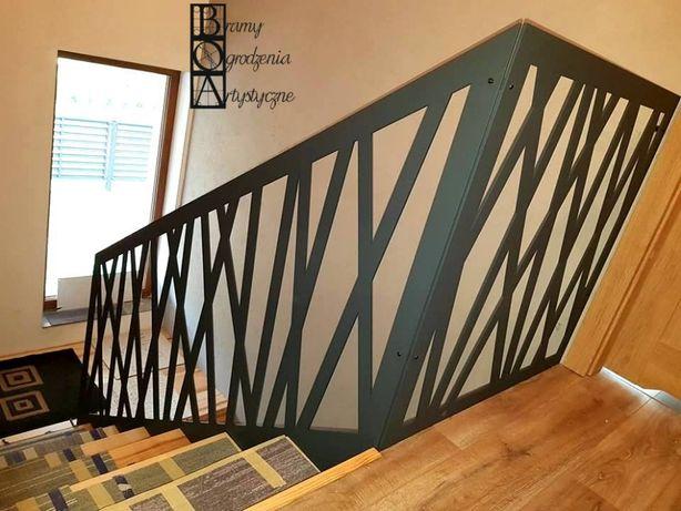 Balustrada wycinana z blachy - panel ażurowy 6mm