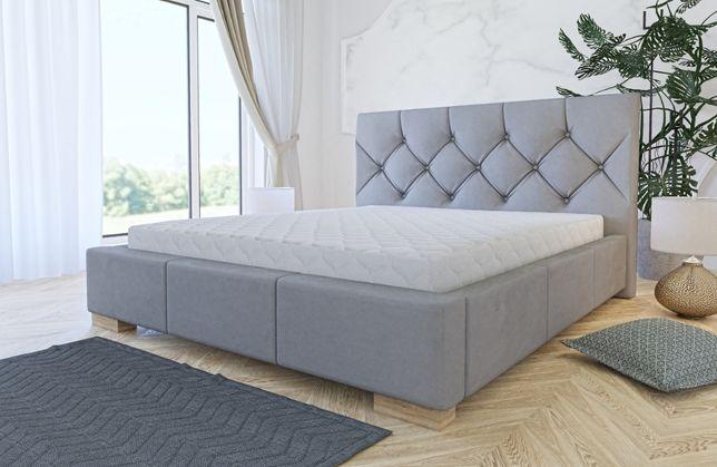 Łóżko tapicerowane Eldorado z stelażem i materacem ! PRODUCENT