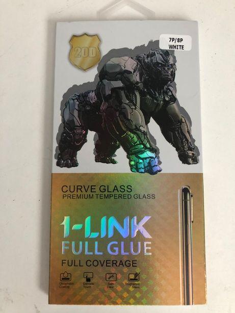 Protetor curvo em vidro temperado, branco para Iphone 7 ou 8