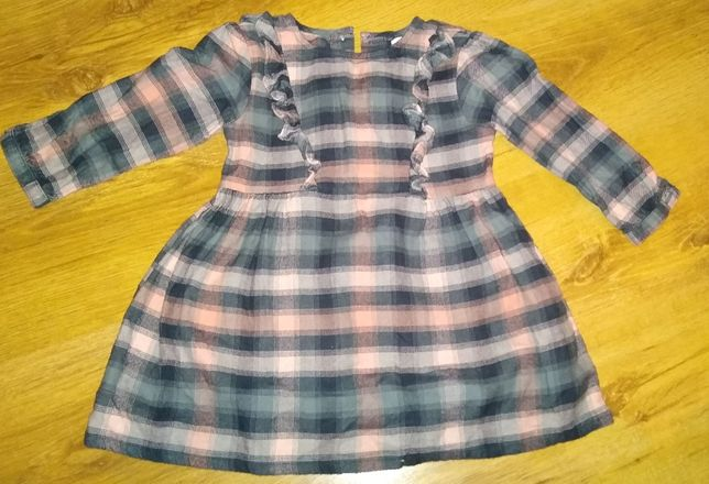 NEXT Sukienka w kratę 92cm 1,5-2 lata