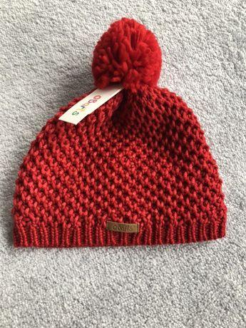 BARTS 53 nowa wełniana czerwona czapka