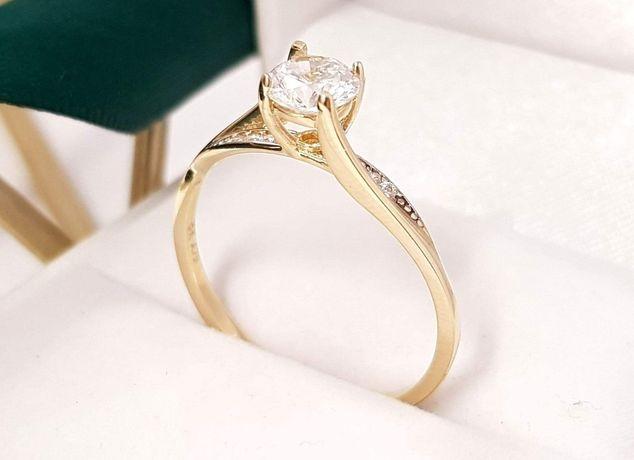 Złoty pierścionek. Nowy. 8K