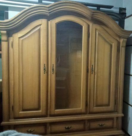 Duża komoda , witryna, szafa lite drewno.