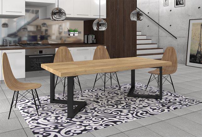 Stół dębowy Loftowy rozkładany LOUIS 150/200 cm x 90cm STYL LOFT