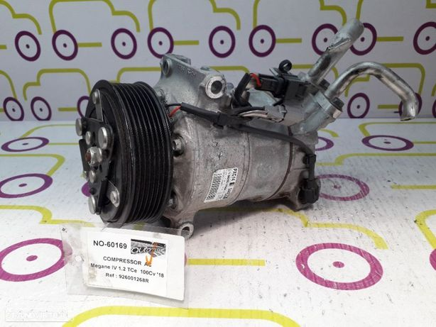 Compressor AC Renault Megane IV 1.2 TCe 100Cv de 2018 - Ref: 926001268R - NO60169