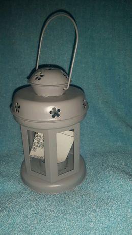 3 szare latarenki na świeczki teligh NOWE