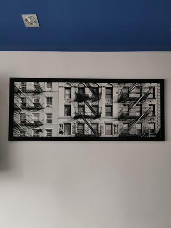 Obraz fotografia w ramie 120x50 czarno biały