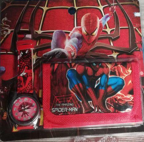 Relógio + carteira Spiderman