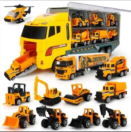 Набор автомобили в грузовике переноске подарок для мальчика