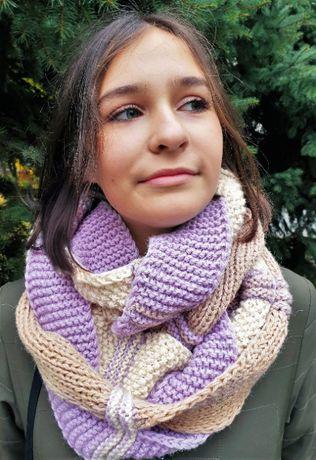 женский шарф снуд хомут