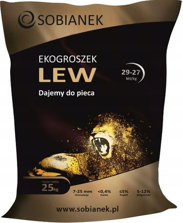 Ekogroszek Sobianek LEW 29mj/kg ekogroszek workowany dostawa .