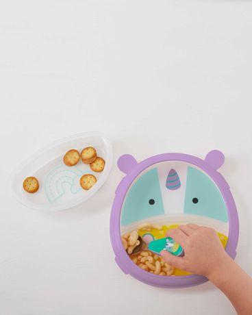 Детская тарелочка 2 в 1. Тарелочка с единорогом от Skip Hop