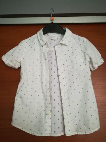 Sprzedam białą koszule r. 92 z H&M