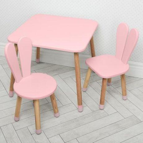 Столик 04-025 с 2 стульчиками комплект детский Зайка