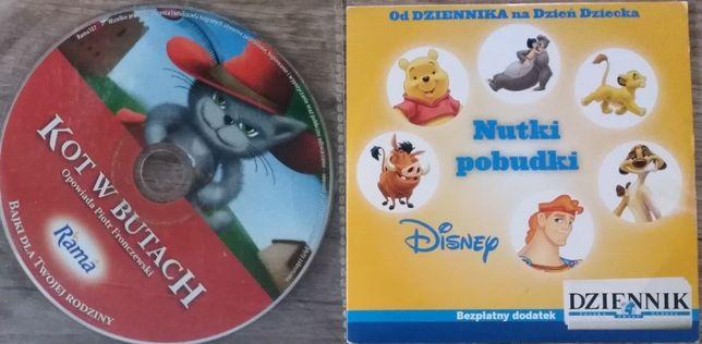 Kot w butach słuchowisko na cd Nutki Pobudki - piosenki z filmów