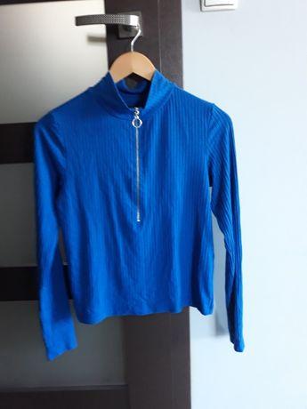 Bluzka Flattop prążki niebieska rozm. S 36