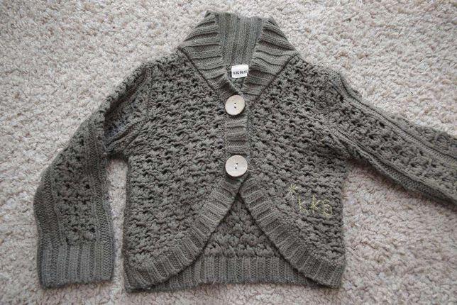 IKKS 4 lata sweterek khaki sweter 104