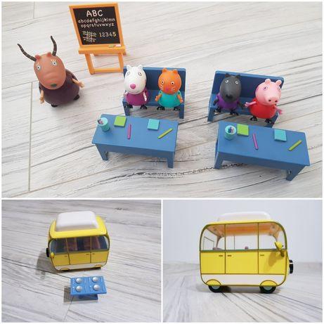 Zestaw Klasa Peppy + figurki + kamper
