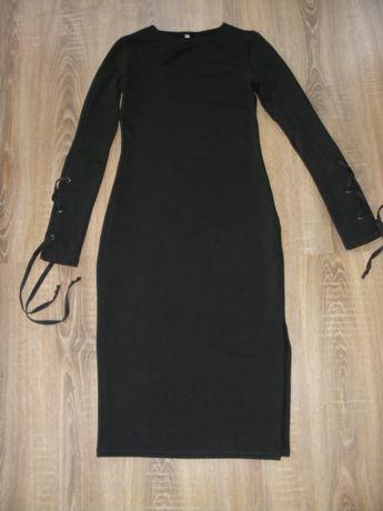 Платье трикотажное прямое