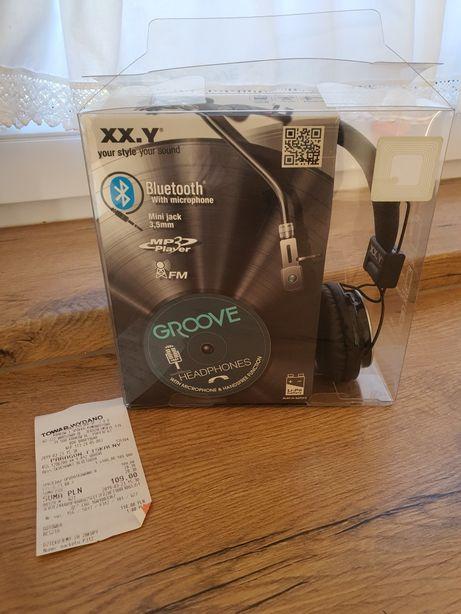 Nowe Słuchawki Bluetooth z wbudowanym odtwarzaczem MP3 i radiem Groove