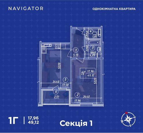 1к пер Балтийский, 23  Жк Навигатор - 56 500 $