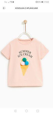 T-shirt bluzeczka Zara 98
