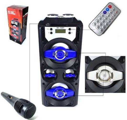 Głośnik bluetooth przenośny Karaoke Boombox