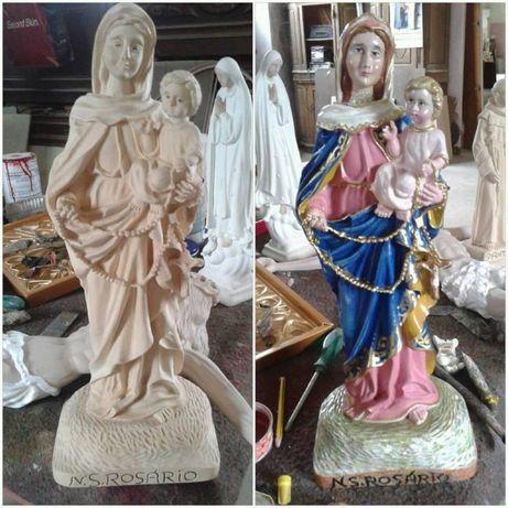 Escultura Arte Sacra Talha Madeira Nossa Senhora do Rosário