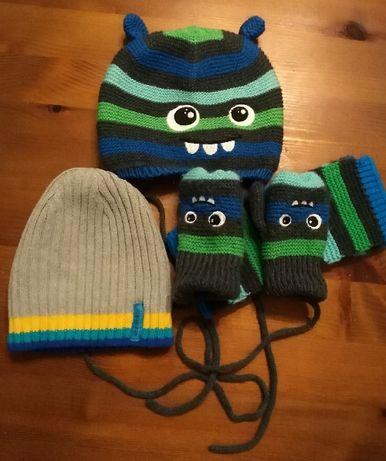 Komplet zimowy czapka, szalik, rękawiczki