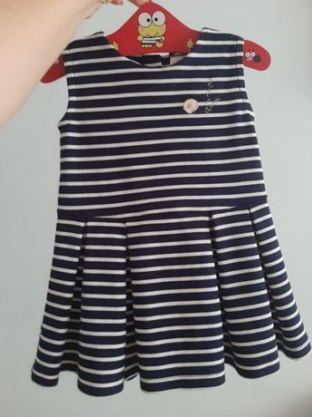 Трикотажный сарафан платье в полоску Next 12-18мес 2года