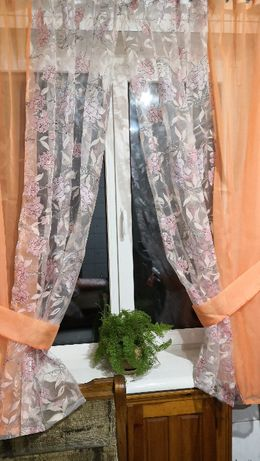 Занавеска штора 2 половинки с подхватами на карниз 1.5-2.2м 450,570грн