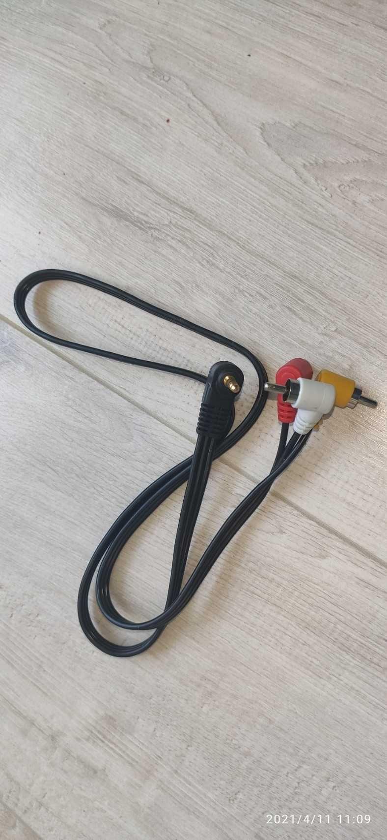 Przewód Jack 3.5mm - 3 x cinch 0,8m