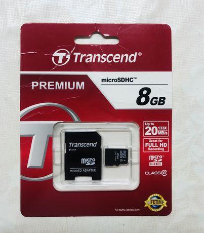 Transcend microSDHC 8 gb.