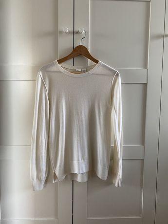 Beżowy kremowy sweter GAP wełna merino