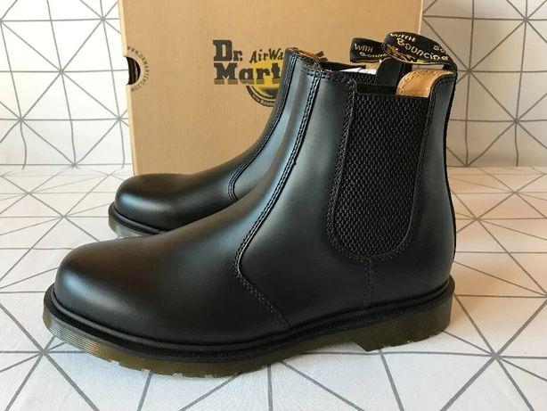 Ботинки челси dr. martens 2976 black smooth us10, eu43