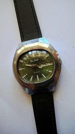 SLAVA z kalendarzem męski mechaniczny zegarek