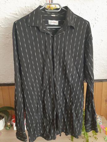 Koszula męska czarna M 39-40 długi rękaw