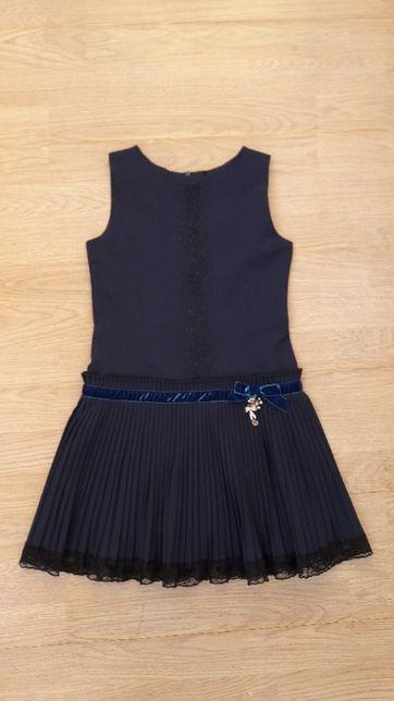 Школьное платье сарафан девочке 8-9 лет, 128 Mone