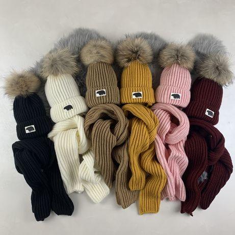 Зимама шапка+шарф