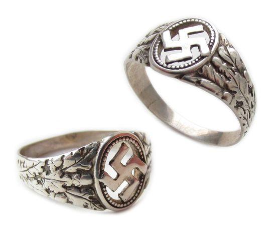 РЕЙХ партийное NSDAP кольцо печатка серебро.